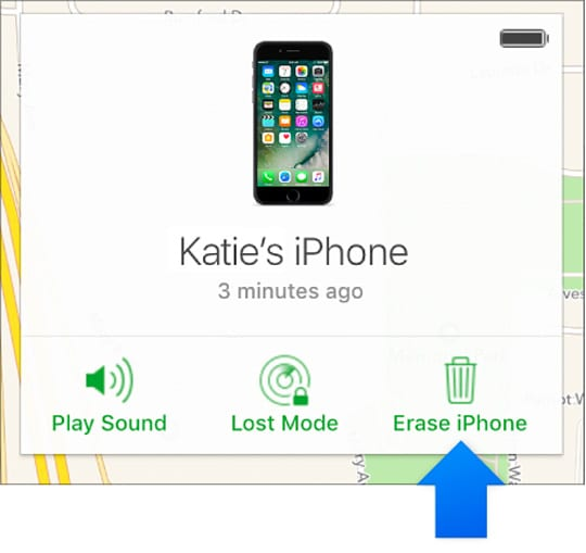 erase iPhone using iCloud website and find my iPhone