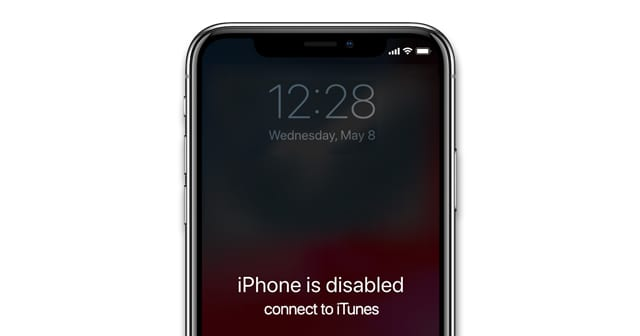 iPhone is disabled, connect to iTunes