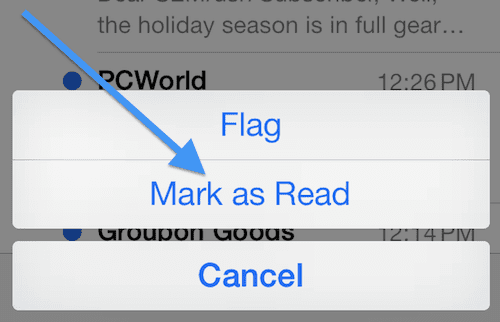 Mail mark as read or unread