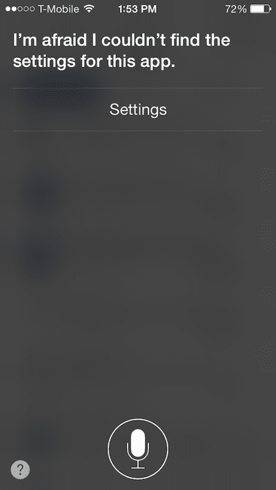 Siri settings