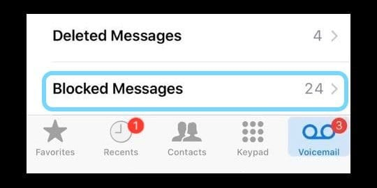 iOS: Can a blocked number leave a voicemail?