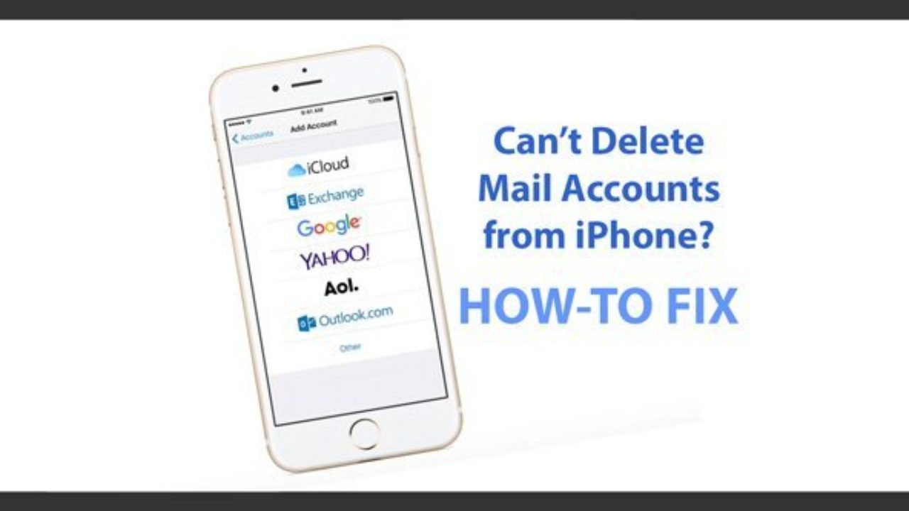 iPhone or iPad Mail accounts cannot be deleted (iOS), fix - AppleToolBox