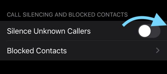 iOS 13 turn on silence unknown callers