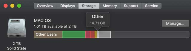 what is other storage on your Mac