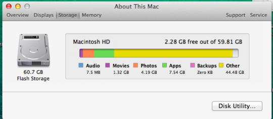 Mac Os X What Is Quot Other Quot Storage And How To Remove