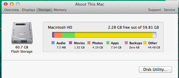 Other files About This Mac