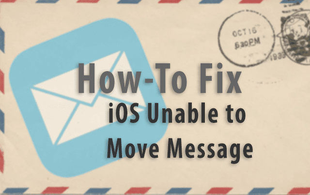iOS: Unable to Move Message