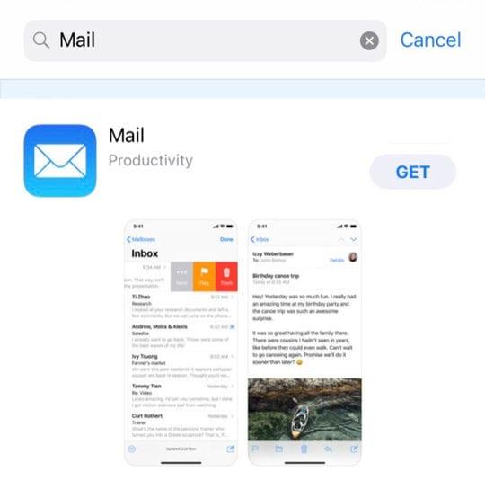 App Store Mail App iOS