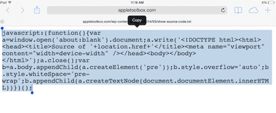How to view webpage HTML source codes on iPad / iPhone  No app