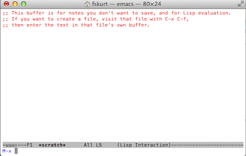 Emacs commands