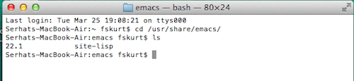 Emacs version