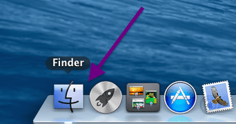 open the finder