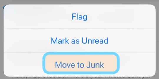 Mail App Move to Junk