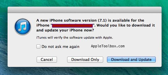 iOS 7.1. iTunes