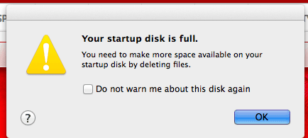 Mac Startup disk is full