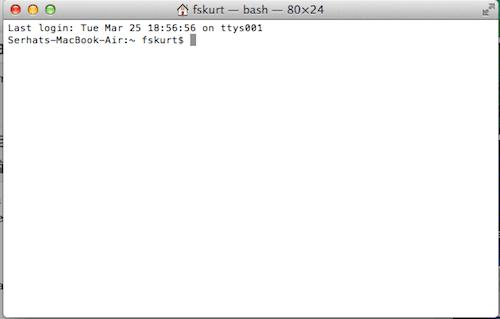 Mac OSX Terminal Command Line