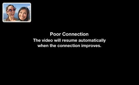 Poor Connection FaceTime on mac