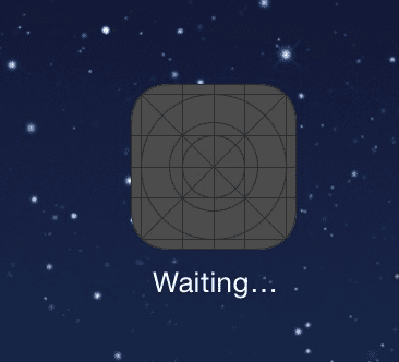 App stuck not installing says waiting