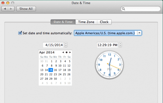 Time and Date