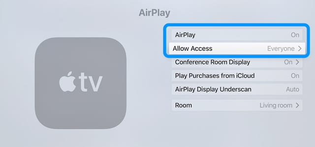 Turn On AirPlay and Access Everyone on Apple TV with tvOS 12
