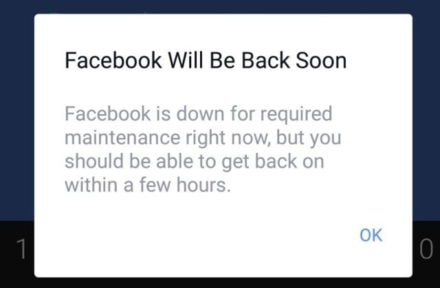 Facebook Error Messages When Signing In