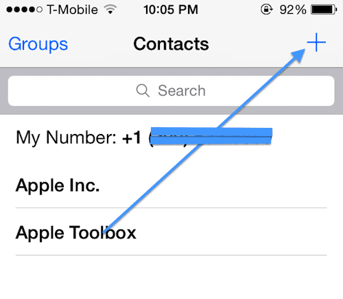 Add group contacts iOS