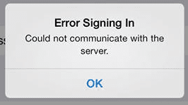 "iOS Facebook: ""Error Signing In"", fix for Facebook: Error Signing In"