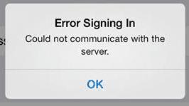 """iOS Facebook: """"Error Signing In"""", fix for Facebook: Error Signing In"""