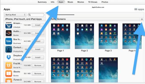 Blank home screen on iPad or iPhone