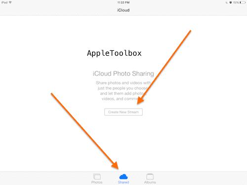 iOS shared photos