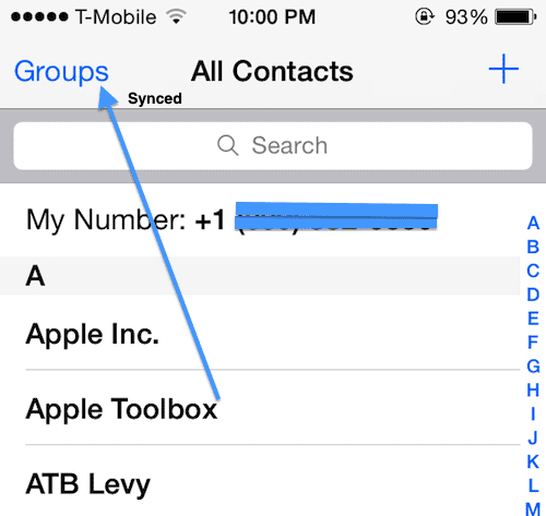 sync contacts on your iOS