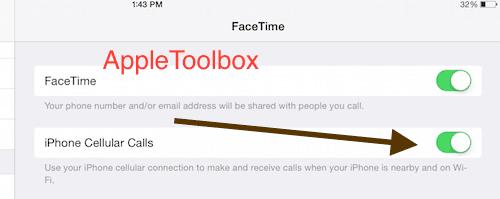 iOS 8 iPhone Cellular Calls
