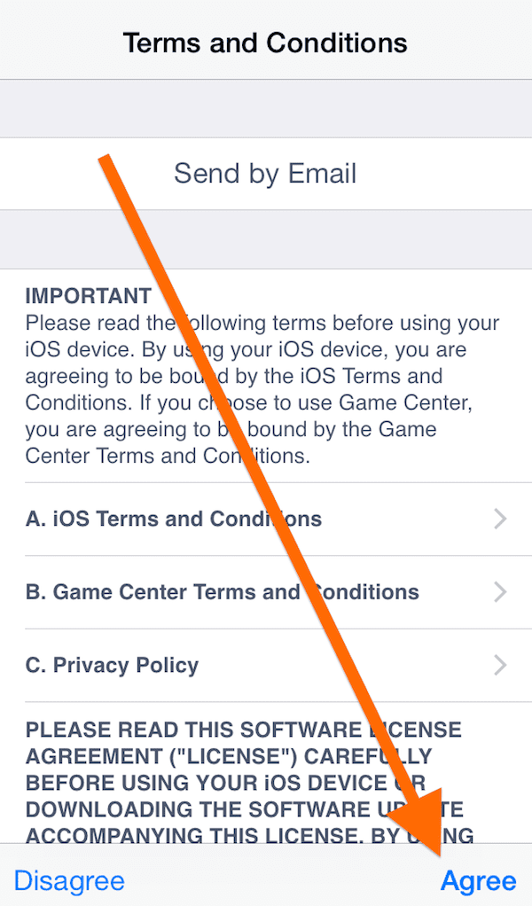iOS terms