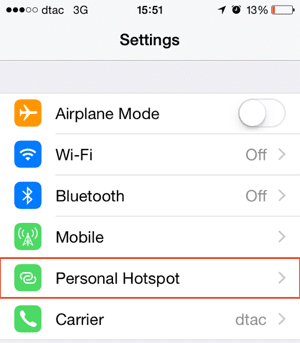 how to turn off personal hotspot