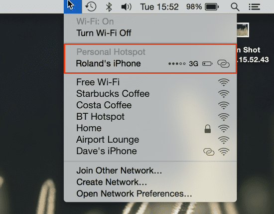 how to open hotspot in iphone