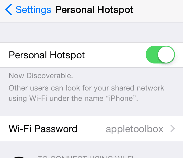 personal hotspot gone