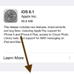 iOS 8.1 available, how to update