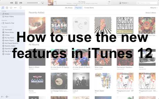 Whats new in iTunes 12 Main Pic