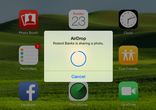 AirDrop Receive on iOS