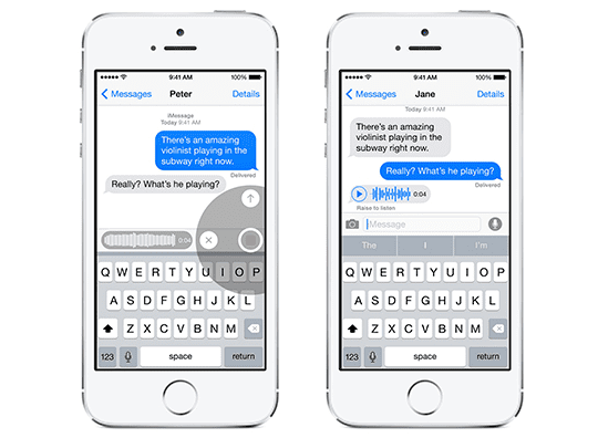 iOS 8 Voice Messages