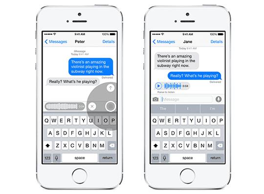 iOS 8 Voice Messages