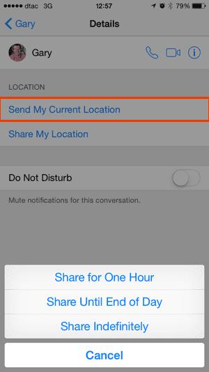 iOS 8 Share Location