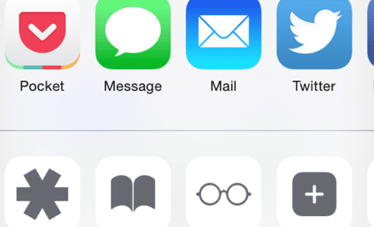iOS 8 Custom Share Sheets