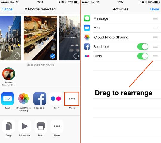iOS 8 Custom Share Sheets Edit