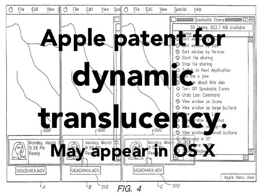 Apple Patent - OS X Window Translucency Main Pic