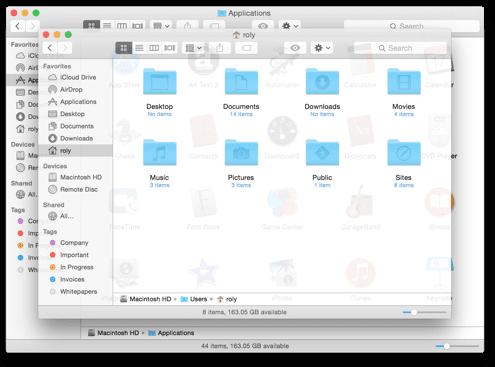 Apple Patent - OS X Window Translucency Mockup