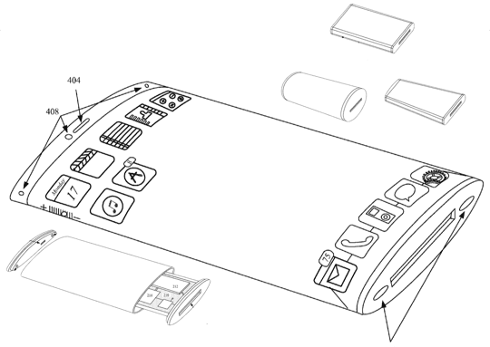 Apple Patent Wrap Around Display - iPhone