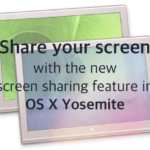 Screen sharing using Messages on OS X Yosemite