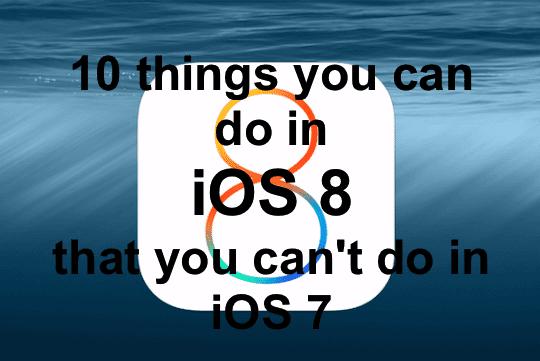 iOS 8 Main Pic