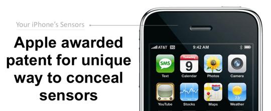 Apple Patent - Sensor Concealment Main Pic